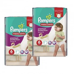 Pack 28 Couches Pampers Active Fit - Pants taille 6 sur Promo Couches