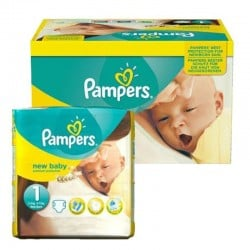 Pack 96 Couches Pampers new baby - premium protection taille 1 sur Promo Couches