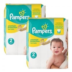 Mega Pack 88 Couches Pampers new baby - premium protection taille 2 sur Promo Couches