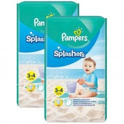 Maxi Pack 36 Couches de bains Pampers Splashers taille 3 sur Promo Couches