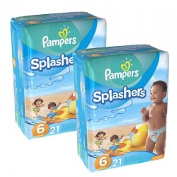 Pack 42 Couches Pampers Swimming Pants Splachers taille 6 sur Promo Couches