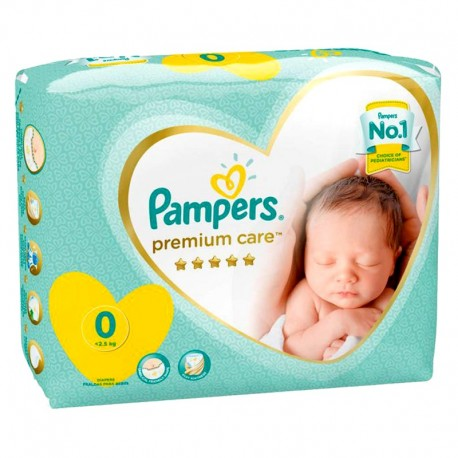 Pack 30 Couches Pampers New Baby Premium Care taille 0 sur Promo Couches