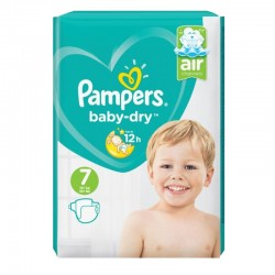 Pack 72 Couches Pampers Baby Dry taille 7 sur Promo Couches