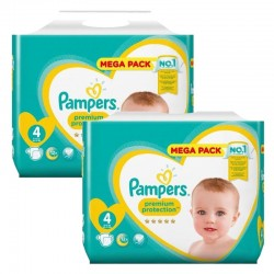 Giga Pack 164 Couches Pampers New Baby Premium Protection taille 4 sur Promo Couches