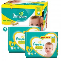 Giga Pack 328 couches Pampers New Baby Premium Protection sur Promo Couches