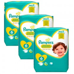 Mega Pack 148 Couches Pampers New Baby Premium Protection taille 6