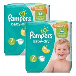 Mega Pack 60 Couches Pampers Baby Dry taille 7 sur Promo Couches