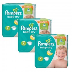 Maxi Pack 120 Couches Pampers Baby Dry taille 7 sur Promo Couches