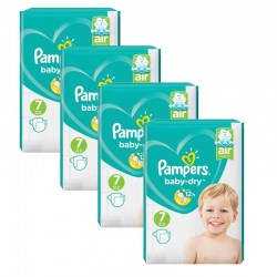 Maxi Pack 216 Couches Pampers Baby Dry taille 7 sur Promo Couches