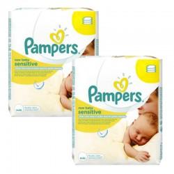 Pack 336 lingettes bébé Pampers New Baby Sensitive sur Promo Couches