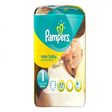 Pack 56 Couches Pampers New Baby taille 1 sur Promo Couches