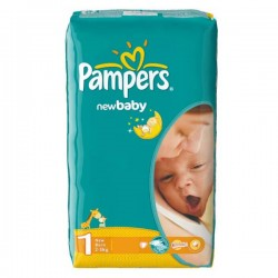 Pack 43 Couches de la marque Pampers New Baby Dry de taille 1