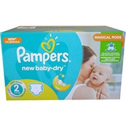 Maxi giga pack 344 Couches Pampers New Baby Dry sur Promo Couches