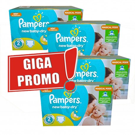 Maxi mega pack 430 Couches Pampers New Baby Dry sur Promo Couches