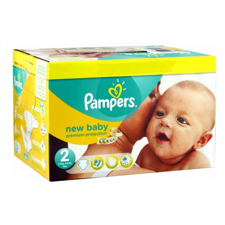 Maxi mega pack 473 Couches Pampers New Baby Dry sur Promo Couches