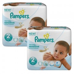 Pack jumeaux 660 Couches Pampers New Baby Sensitive