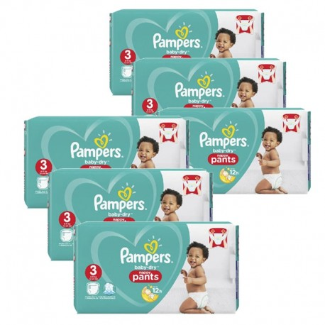 Maxi giga pack 320 Couches Pampers Baby Dry Pants taille 3 sur Promo Couches