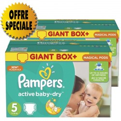 Mega pack 116 Couches Pampers Active Baby Dry sur Promo Couches