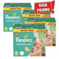 Mega pack 174 Couches Pampers Active Baby Dry sur Promo Couches