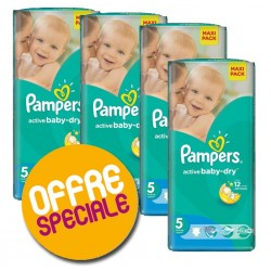 Maxi giga pack 348 Couches Pampers Active Baby Dry sur Promo Couches