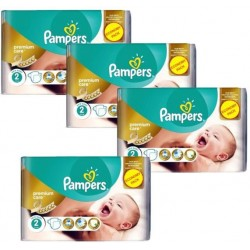 Pack 76 Couches Pampers New Baby Premium Care taille 2 sur Promo Couches