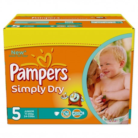 Couches Pampers Simply Dry Taille 5 Pas Cher 352 Couches Sur Promo