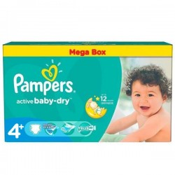 Giga Pack 256 Couches Pampers Active Baby Dry