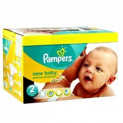 Pack d'une quantité de 240 Couches de Pampers New Baby taille 2 sur Promo Couches