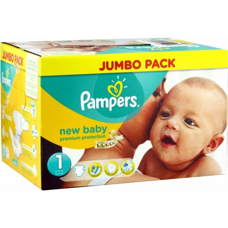 Pack 280 Couches de la marque Pampers New Baby taille 1 sur Promo Couches