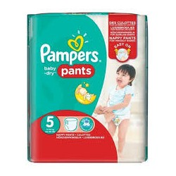 Pack 52 Couches Pampers Baby Dry Pants taille 5 sur Promo Couches