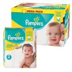 Mega pack 155 Couches Pampers New Baby Premium Protection taille 2 sur Promo Couches