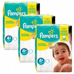Mega pack 100 Couches Pampers New Baby Premium Protection taille 4+ sur Promo Couches