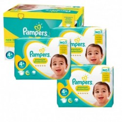 Mega pack 150 Couches Pampers New Baby Premium Protection taille 4+ sur Promo Couches