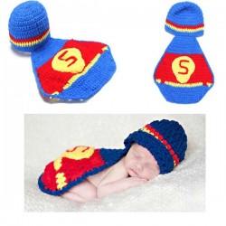 Mon premier ensemble Premier ensemble nouveaux nés Choupinet Superman taille 6-18Mois sur Promo Couches