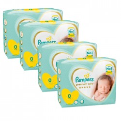Mega pack 120 Couches Pampers New Baby Premium Care taille 0 sur Promo Couches