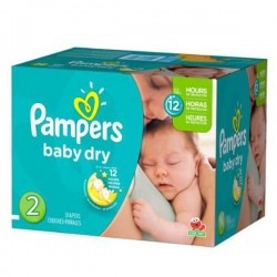 Maxi mega pack 414 Couches Pampers Baby Dry taille 2