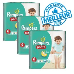Pack 98 Couches Pampers Baby Dry Pants taille 6 sur Promo Couches
