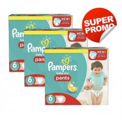 Mega pack 112 Couches Pampers Baby Dry Pants taille 6 sur Promo Couches