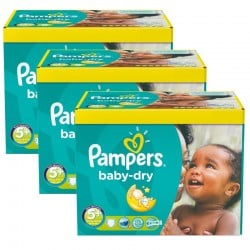 Giga pack 224 Couches Pampers Baby Dry taille 5+ sur Promo Couches