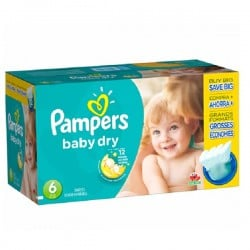 Giga Pack 124 couches Pampers Baby Dry